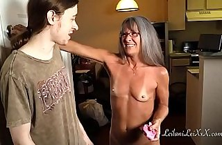 Milf Shares Panty Fetish with her Young Man
