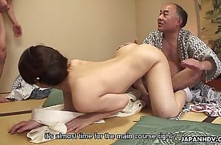 Juicy pussy babe getting plowed in a hot threesome