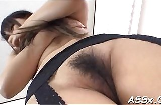 Stimulating oriental anal threesome with vegetables