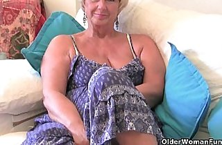 British granny with big tits with her sex toy