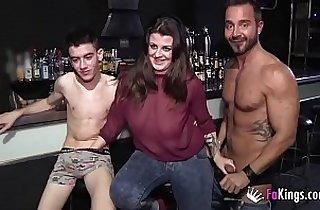 A lesbian babe, a Gay dude and Jordi Enp have a threesome together