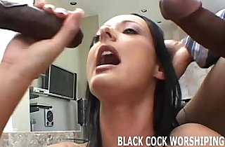 I want to take two big black monster cocks in front of you