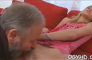 Old dude fucks young pussy