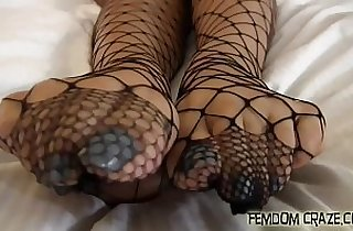 Cover my cute feet with your cum