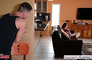 Sexy mom Sara Jay gets spotted and fucked and facialized