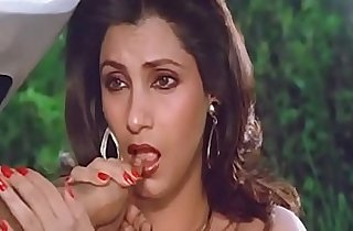 Sexy Indian Actress Dimple Kapadia Sucking Thumb lustfully Like big black Cock