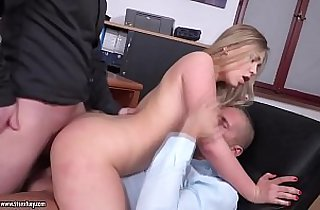 Double penetrated younger secretary Selvaggia