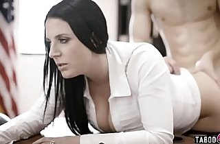 Huge round tits councilwoman gets exploited by a businessman