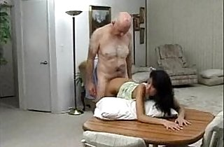 Sexy getting fucked by an old man