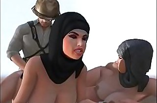 hijab girls abused in the desert