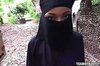 arab girl must wear hijab while getting anal fucked