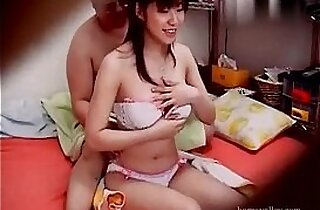 Fat Man and Busty Japanese Prostitute