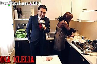 Mistress Divina Klelia destroys and cooks a couple of balls for Andrea Dipr