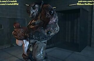 Ashley Williams and Femshep fucked so hard by depraved monsters in the Labroom 3D monster porn animation
