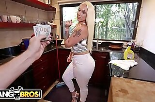 Big Ass Maid Alexis Andrews Cleans House and Fucks Tony Rubino