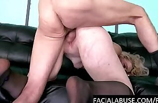 Blonde skank roughed and pissed