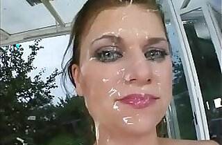 cumshots too much for babe