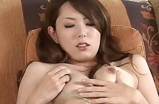 Asian mature MILF masturbates then sucks