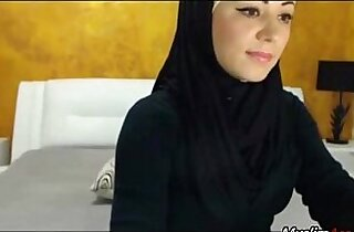 I Love This Girl, sexy Hijab Girl playing with herself