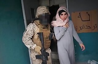 TOUR OF BOOTY Arab Hooker Satisfies American Soldiers In A War Zone!