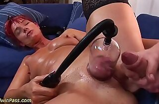 busty chubby Milf gets anal pumped